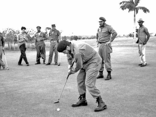 fidel che golf golfe cuba